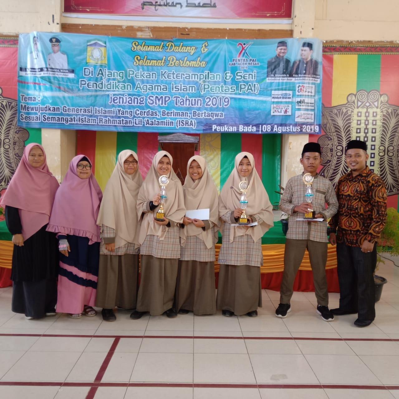 Prestasi Lomba Pentas PAI tingkat Dinas Pendidikan dan Kebudayaan Aceh Besar