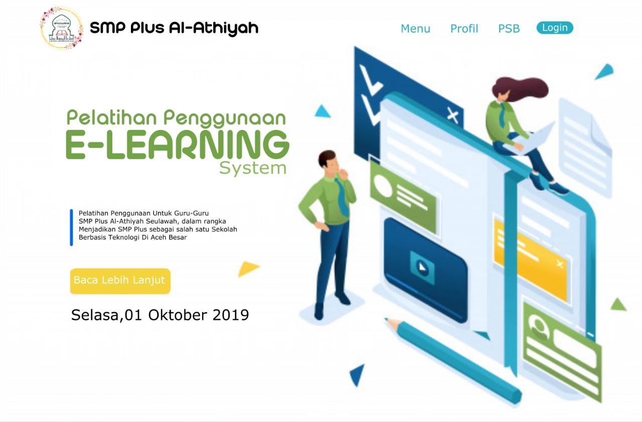Guru-guru SMP Plus Al Athiyah Mengikuti Pelatihan E-Learning