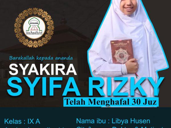 CONGRATULATION TO ANANDA SYAKIRA SYIFA RIZKY