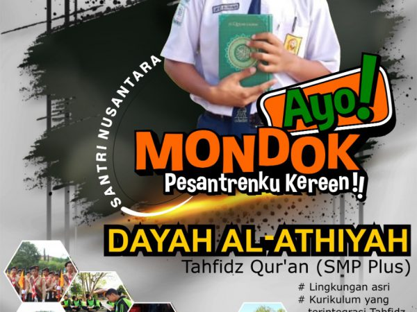 Penerimaan Santri Baru Dayah Al Athiyah (SMP) 2020-2021